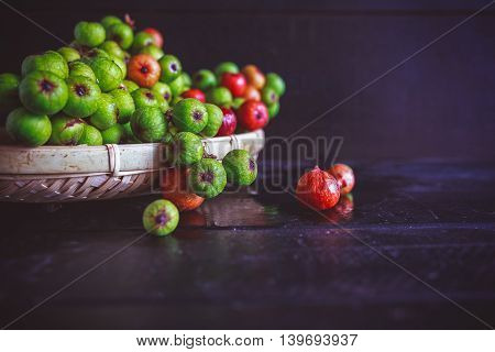 Figs on the dark background, fruit from VietNam