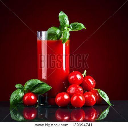 Tomato Juice With Basil