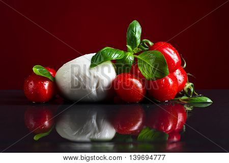 Mozzarella With Basil And Tomatoes