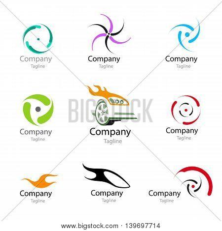 Racing car wheel Icon Inspiration. Wheel symbol. Logo. Vector illustration.