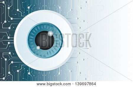 Eye Detail Technology Background
