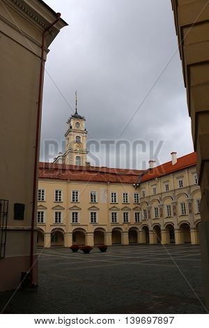 Walk through the old town of Vilnius, capital of Lithuania