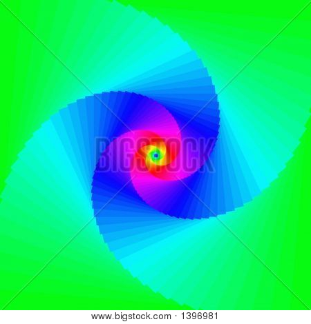 Multicolored Hypnotic Background
