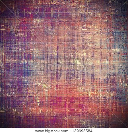 Highly detailed grunge background or scratched vintage texture. With different color patterns: brown; gray; blue; red (orange); purple (violet); pink