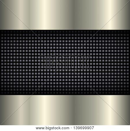 Background elegant metallic, 3D vector illustration
