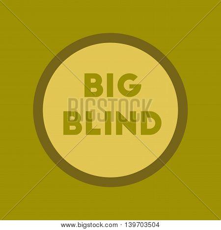 flat icon on stylish background poker big blind