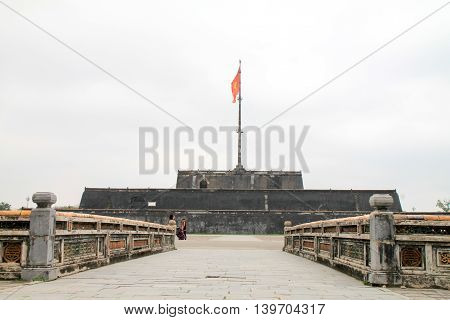 Hue Citadel nestled in the heart of the bustling city
