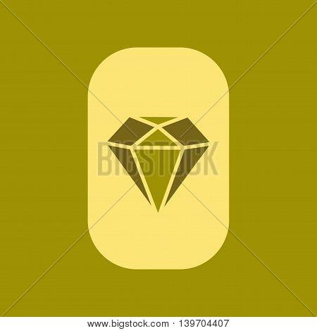 flat icon on stylish background poker diamond symbol