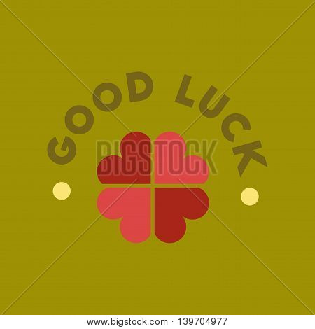 flat icon on stylish background poker good luck clover