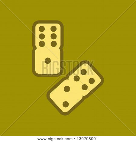 flat icon on stylish background poker dice lucky