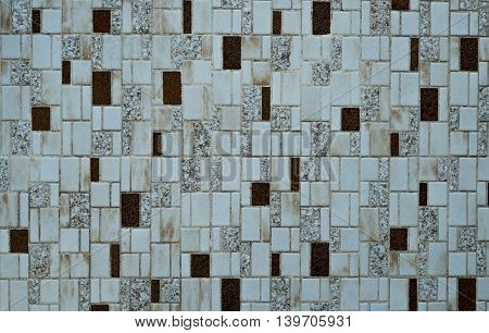 Nostalgic mosaic tiles from the seventies indoor