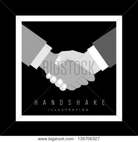 Handshake vector illustration. Background for business and finance