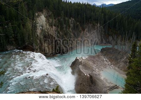 A Waterfall in Yoho National Park, British Columbia