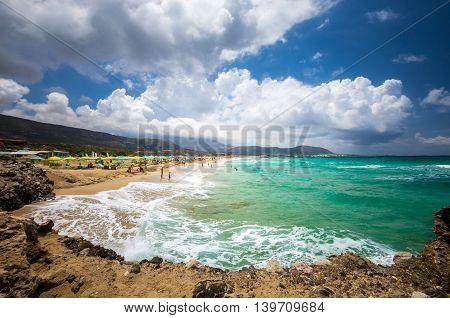 Falasarna beach, Crete island, Greece. Falassarna is one of the best beaches in Creta
