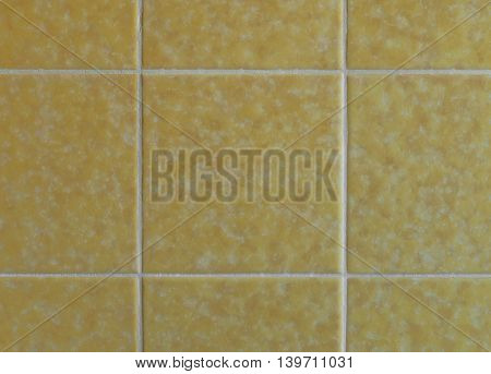 Nostalgic yellow wall tiles from the seventies