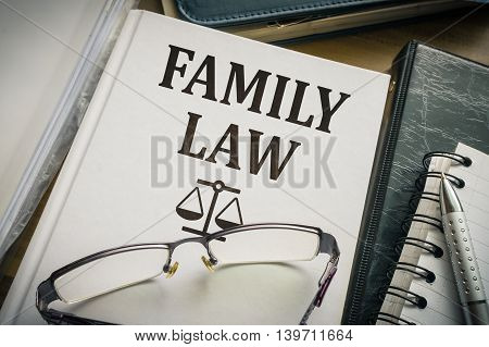 Family Law Book. Legislation And Justice Concept.