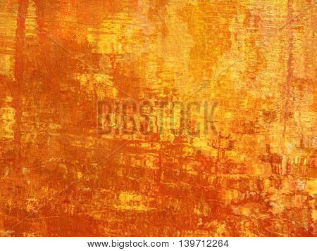 Grunge orange background - abstract vibrant fall texture