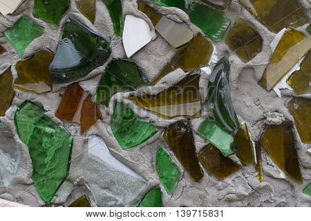 broken glass stuck to a wall background image
