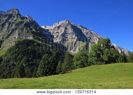 High mountain in Glarus Canton Switzerland. Mt Glarnisch.