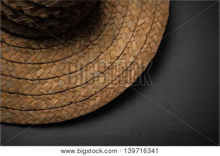 Village hat or traditonal hat made out of straw
