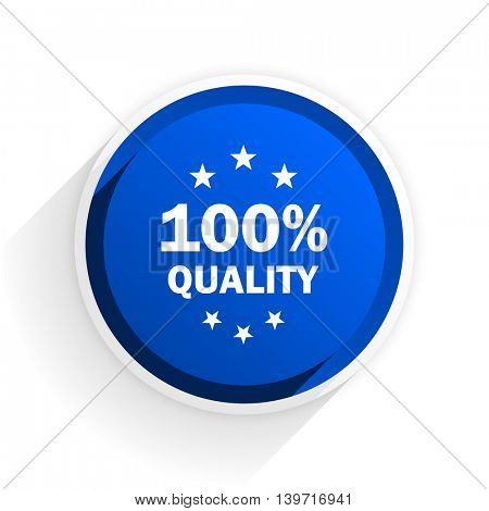quality flat icon with shadow on white background, blue modern design web element