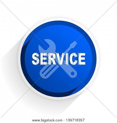 service flat icon with shadow on white background, blue modern design web element