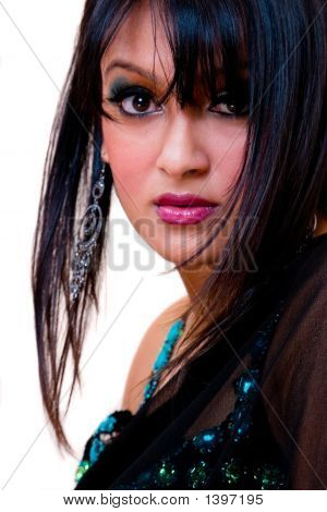 Glamurosa mujer India