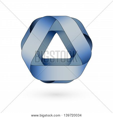 Abstract rounded vector sign. Modern monochrome isolated blue icon. Logo for Business, Media, Technology.