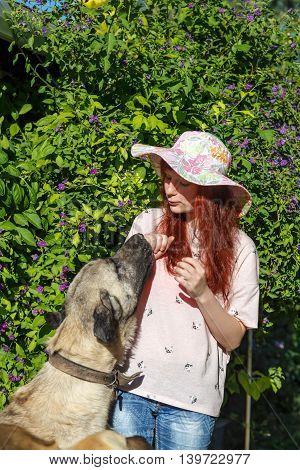 Girl And Turkish Kangal Dog