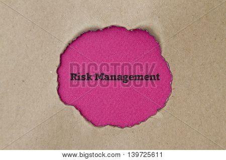 Risk Management written under burnt torn paper.