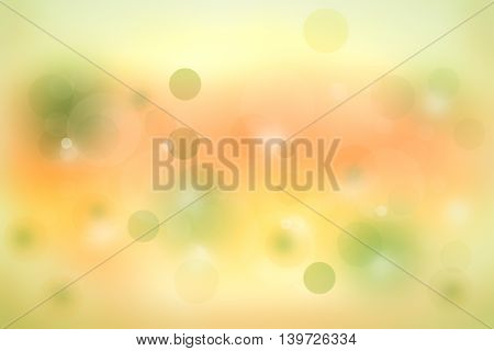 Abstract yellow and green background with circles and light effects