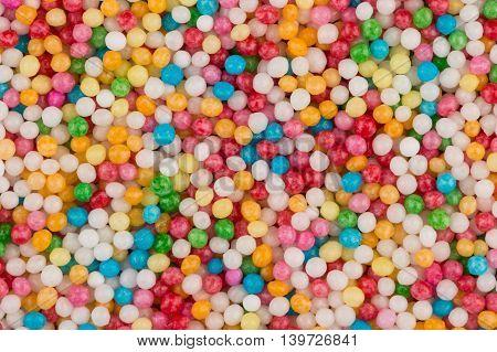 Shot Of Colorful Sugar Balls