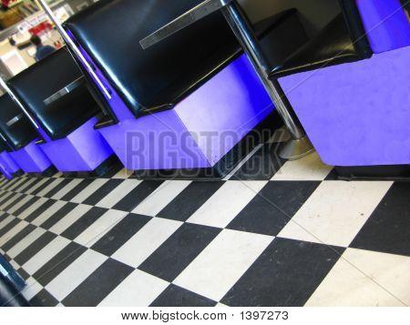 Blue Retro Diner