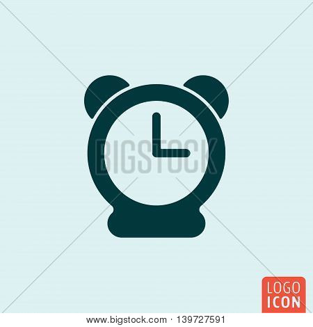 Clock icon. Alarm clock symbol. Vector illustration