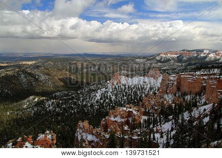 Wonderful southwestern landscape in Bryce Canyon National Park, Utah