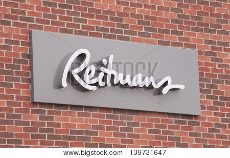 DARTMOUTH CANADA - JULY 24 2016: Reitmans Ltd. is a women's attire retail company. Reitmans has stores in all provinces and territories of Canada.