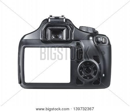 DSLR camera isolated on a white background