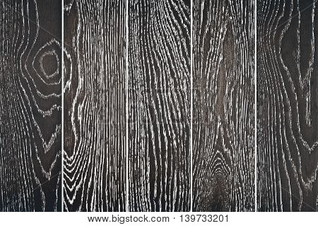 wall of black painted oak boards, background