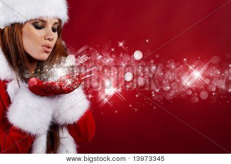 mooie sexy meisje dragen van santa claus kleding