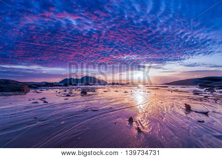 amazing Thai sunset at the beach