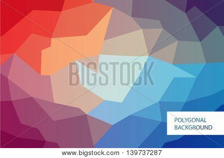 Polygonal modern colorful horizontal greeting card mockup