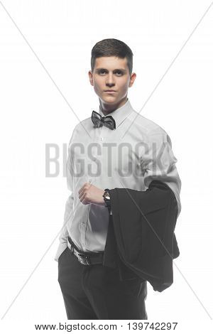 Portrait Of A Young Businessman Isolated On White Background
