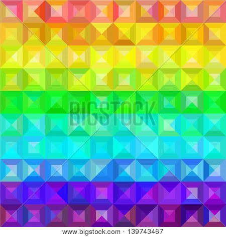 vector multicolor geometric rainbow color backround with square and triangle polygons