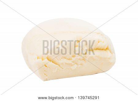 fresh italian mozzarella milk on white background