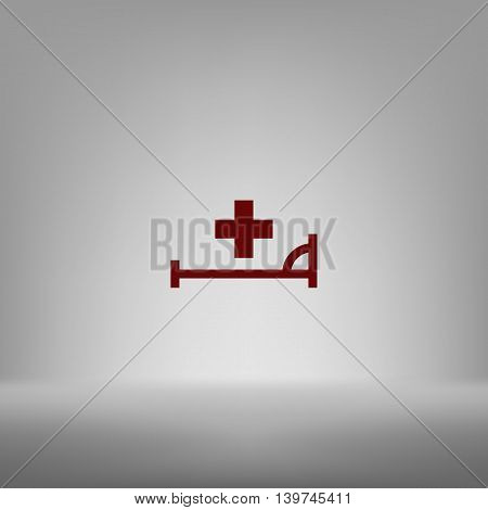Vector Icon With Bed And Cross