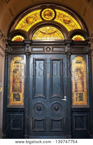 Door And Stained Glass