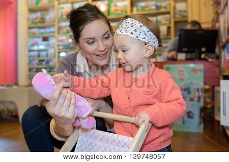 shopping in toy store