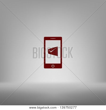 Flat Paper Cut Style Icon Of Short Message