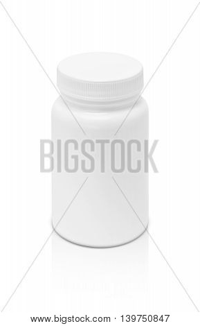 blank packaging supplement product bottle isolated on white background with clipping path