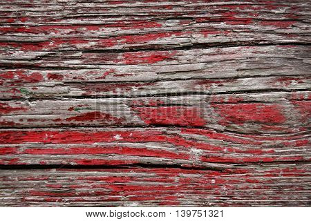 Crack painted wooden background